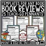 Digital Book Report Reading Response Graphic Organizers, B