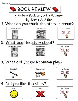 Book Review - A Picture Book of Jackie Robinson