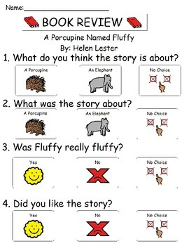 Book Review - A Porcupine Named Fluffy