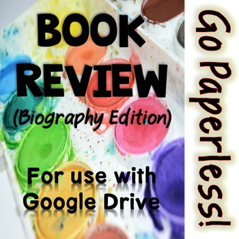 Book Review Activity: Biography edition for Google Drive - Famous Americans