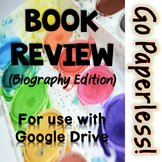 Digital Book Report - Biography edition for Google Drive -