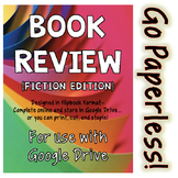 Digital Book Report / Review: FICTION edition for Google Drive