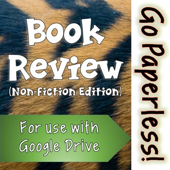 Book Review Activity: NON-FICTION edition for use with Google Drive
