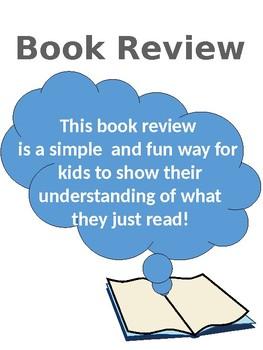 Book Review Activity Sheet