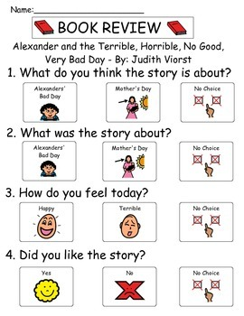 Book Review - Alexander and the Terrible, Horrible, No Good, Very Bad Day