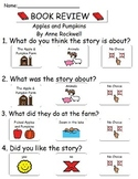 Book Review - Apples and Pumpkins By Anne Rockwell