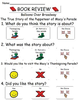 Book Review - Balloons Over Broadway