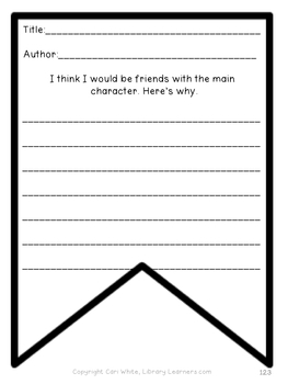 book report template for book review banner pennant by library learners