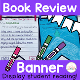 Book Report Template For Book Review Banner Pennant Bunting