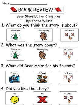 Book Review - Bear Stays Up For Christmas