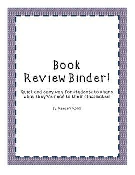 Book Review Binder