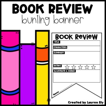Book Review Bunting Banner