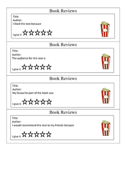 Book Review Cards