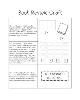 Book Review Craft - My Favorite Book Is... - Educational Crafts Series
