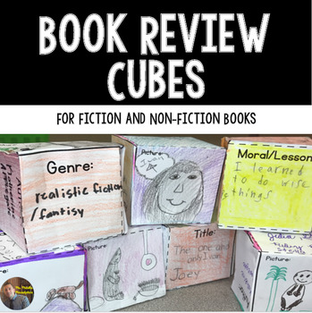 Book Review Cube: Fiction, Non-Fiction, and Sequencing Cubes for Grades 2-6