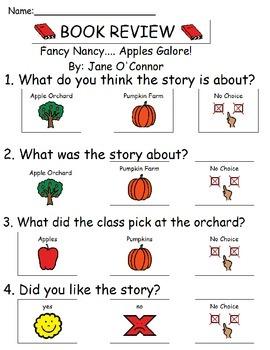 Book Review - Fancy Nancy.... Apples Galore!
