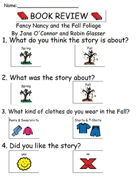 Book Review - Fancy Nancy and the Fall Foliage