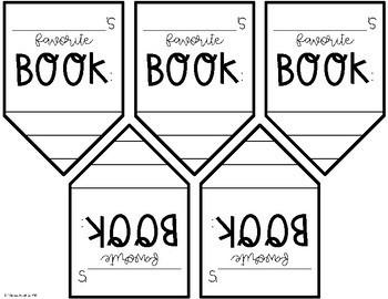 Book Review + Favorite Book Activities {tabbed book, banner, craft, bookmark}