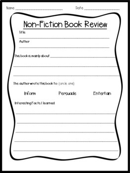 Book Review-Fiction & Non-fiction