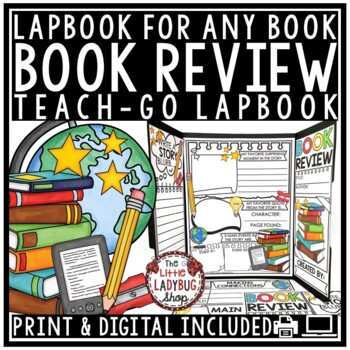 Book Review Template Activity for Any Book Report Template Book Club Lapbook
