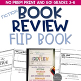 Fiction Book Review Flip Book for Grades 3-6 Common Core Aligned