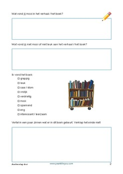 Book Review Form (dutch) - Boekverslag door