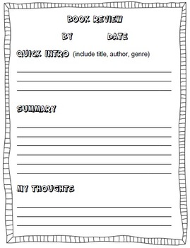 Book Review Forms