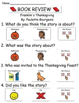 Book Review - Franklin's Thanksgiving