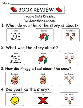 Book Review - Froggie Gets Dressed