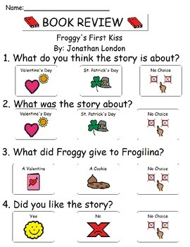 Book Review - Froggies First Kiss