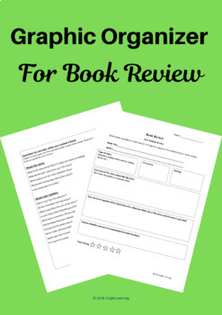Book Review Graphic Organizer (For Fiction Books)