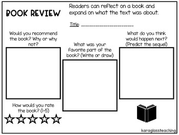 Book Review Graphic Organizer and Responses