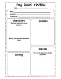 Book Review Graphic Organizers