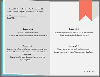 Book Review Template for Fictional Texts