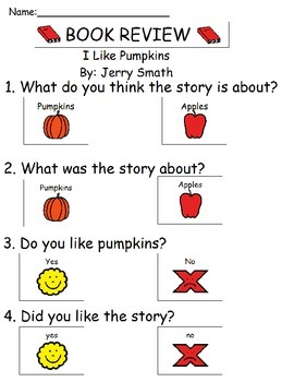Book Review - I Like Pumpkins