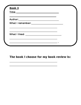 Book Review Ideas