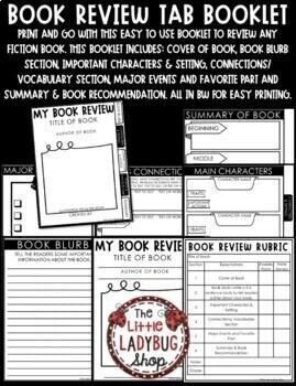 Book Review Flip Book & Book Report Template