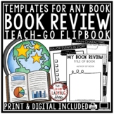 Book Review Flip Book & Book Report Template for Any Text- Literature Circles