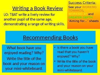 how do you write a book review for school
