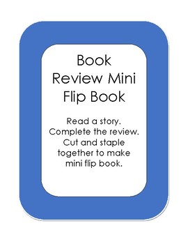 Book Review Mini Flip Book