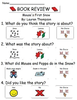 Book Review - Mouse's First Snow