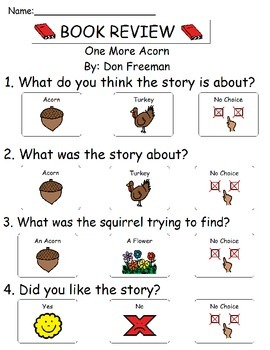 Book Review - One More Acorn