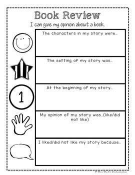 Book Review {Opinion} Poster and Graphic Organizer