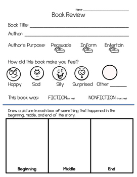 Book Review Page - Fiction Based