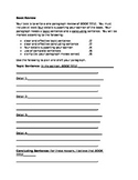 Book Review Paragraph Organizer