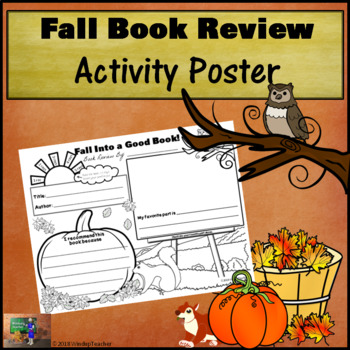Book Review Poster - Fall Into a Good Book! *Print and Go!*