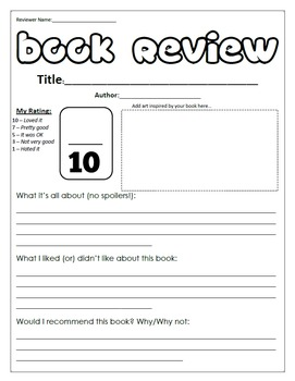 Book Review Poster Freebie