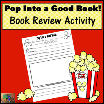 Book Review Poster - Pop Into a Good Book! *Print and Go!*