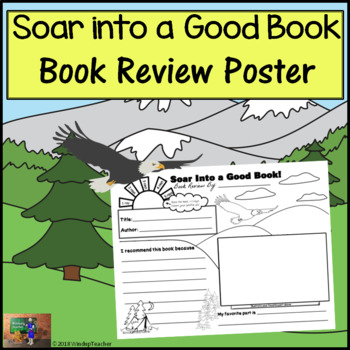 Book Review Poster - Soar Into a Good Book! *Print and Go!*