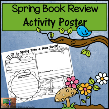 Book Review Poster - Spring Into a New Book! *Print and Go!*